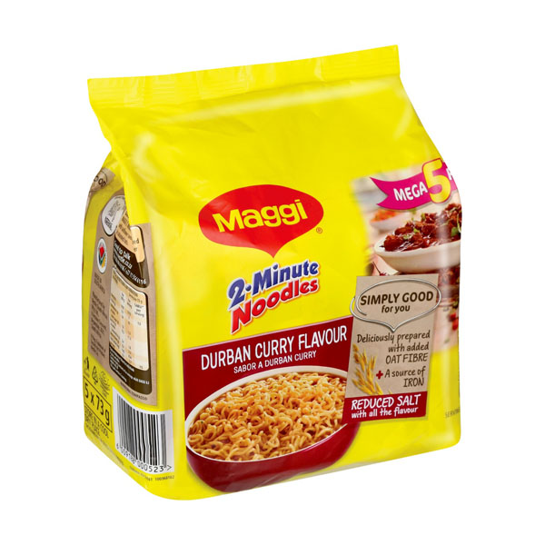 Maggi Instant Noodles Durban Curry 73g 5pack